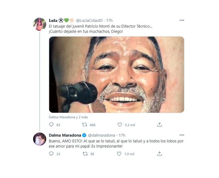 tuit Dalma Maradona Patricio Monti