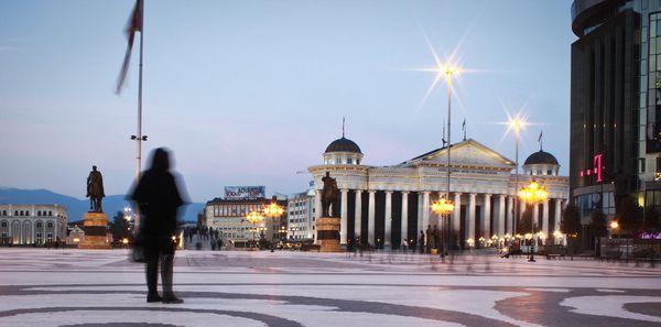 Plaza central de Skopje
