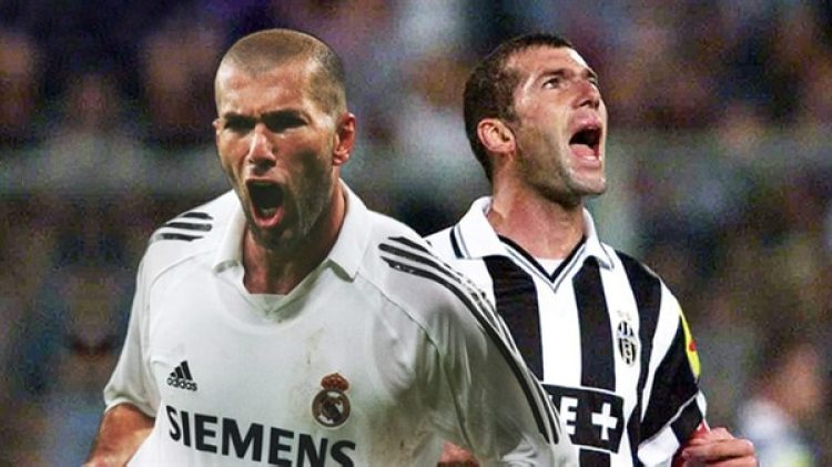 La imagen de Zidane futbolista: jugó en la Juventus y luego se retiró en el Real Madrid (UEFA)