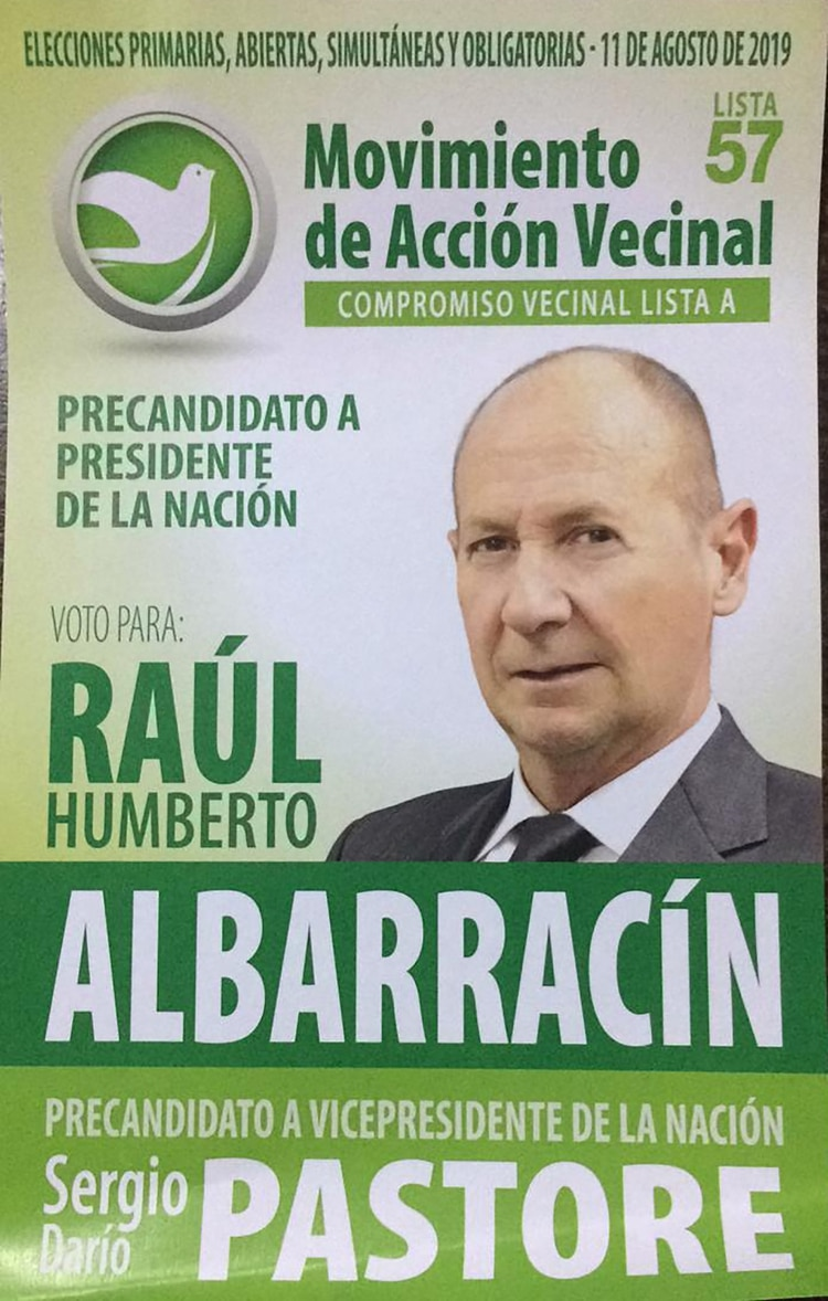 Raúl Humberto Albarracín y Sergio Pastore – Movimiento de Acción Vecinal
