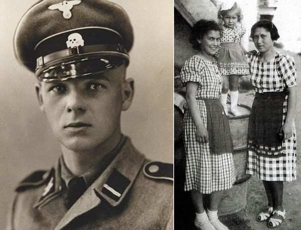 Franz Wunsch y Helena Citrónová a la izquierda, junto a su hermana Rozinka y la hija de Rozinka, todas deportadas a Auschwitz
