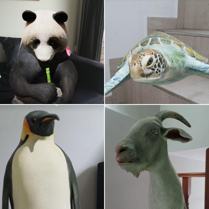 animales realidad aumentada en buscador de google