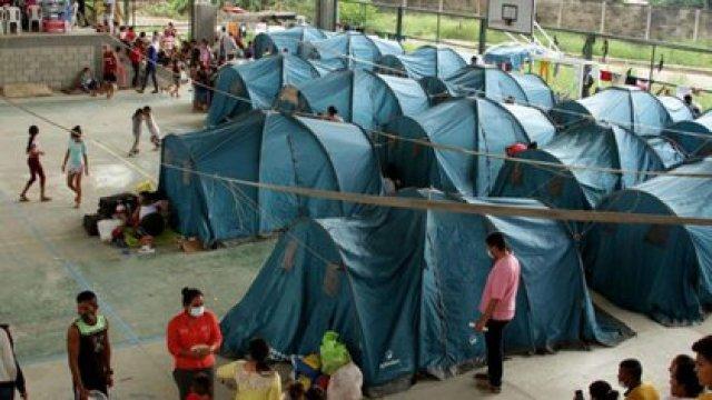 Población civil que se desplazó a territorio colombiano