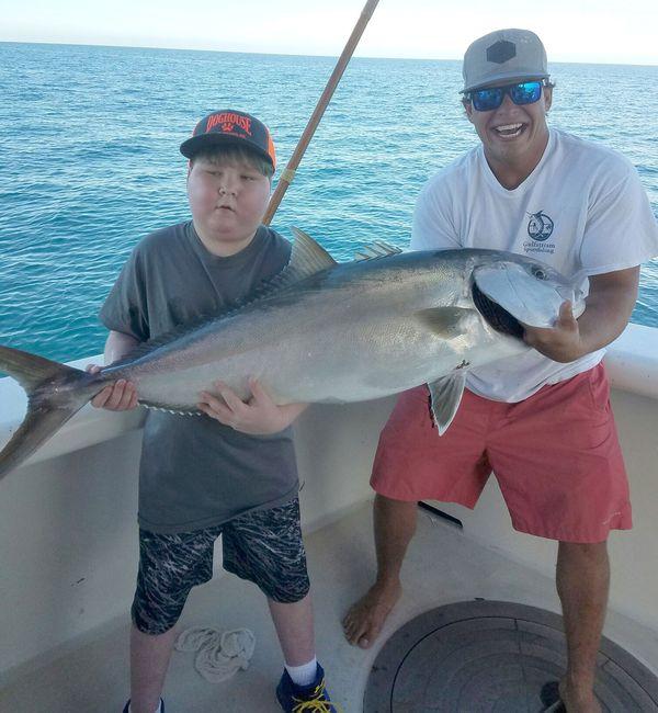 El 15 de enero, en Florida, luego de pescar un pez martillo