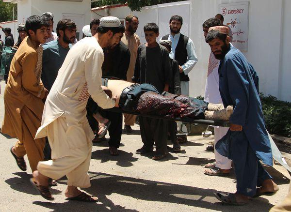 Atentado en Lashkar Gah, la capital de la provincia de Helmand, el 22 de junio de 2017 (AFP)