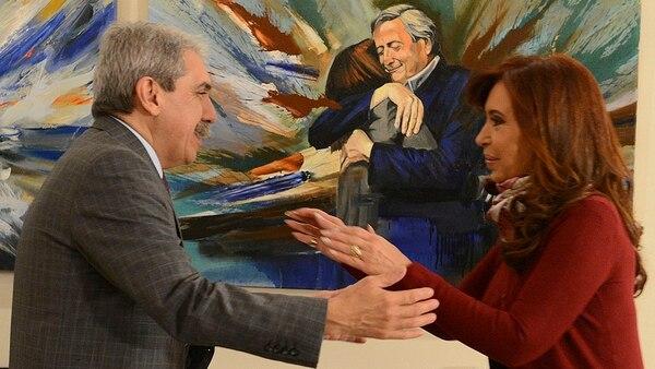 Otros tiempos: Aníbal Fernández y Cristina Kirchner juntos.