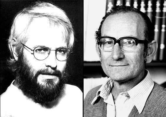 César Milstein y el alemán George Kohler, con quien publicó el trabajo sobre los anticuerpos monoclonales