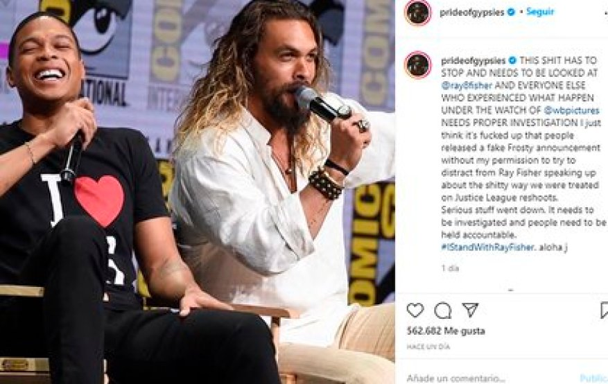 Jason Momoa joined Ray Fisher's accusations against Joss Whedon