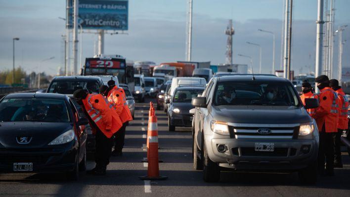 Control de tránsito en el puente La Noria - Cuarentena Estricta COVID-19