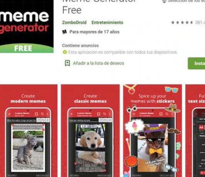 Meme Generator está disponible para Android