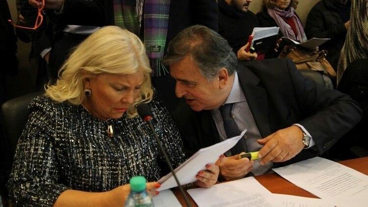 Elisa Carrió y Mario Negri