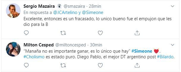 Debate Simeone