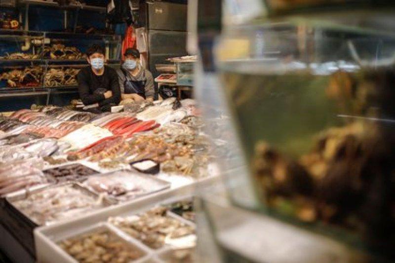 El mercado de Xinfadi, en Beijing, fue cerrado temporalmente luego de un brote de coronavirus en junio. Responsabilizaron a los productos congelados importados por los casos detectados (EFE)