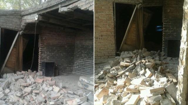Así quedó la casa de Roxana Velarde tras el derrumbe.