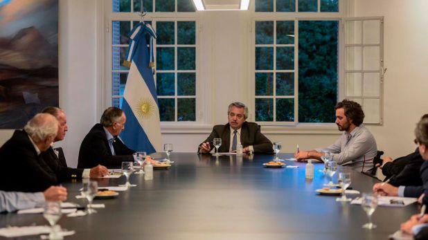 Alberto Fernández, con empresarios industriales. Agenda en un día de tensiones.