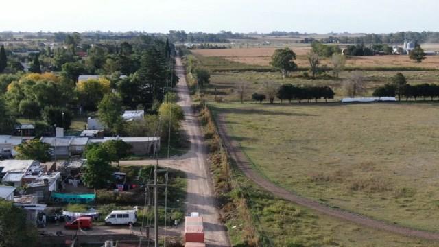 El barrio Villa Alicia está pegado al inicio de la zona de campos de Pergamino