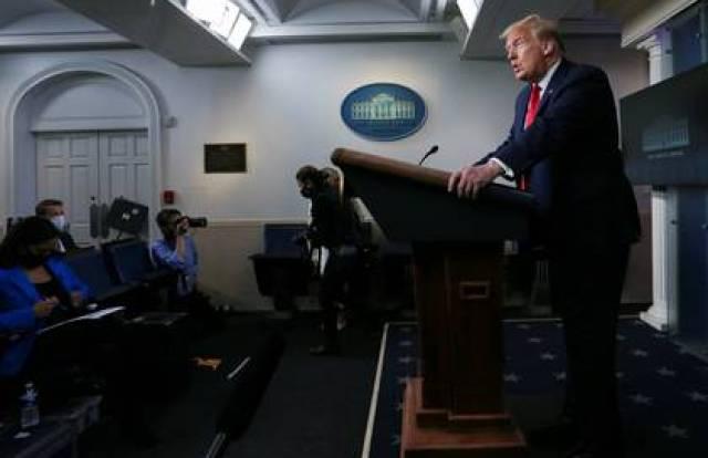 Donald Trump en una rueda de prensa en la Casa Blanca este 22 de mayo de 2020 (REUTERS/Leah Millis)