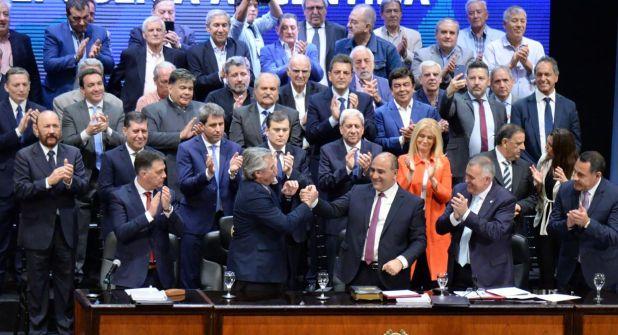 Alberto Fernández con gobernadores peronistas