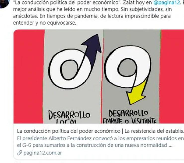 El tuit de Cristina Kirchner
