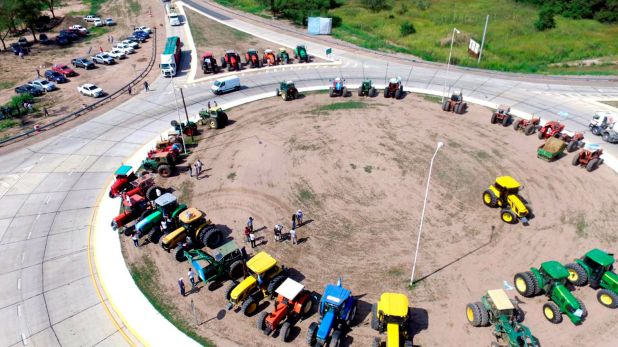 La semana pasado hubo tractorazos en varias ciudades del interior del país