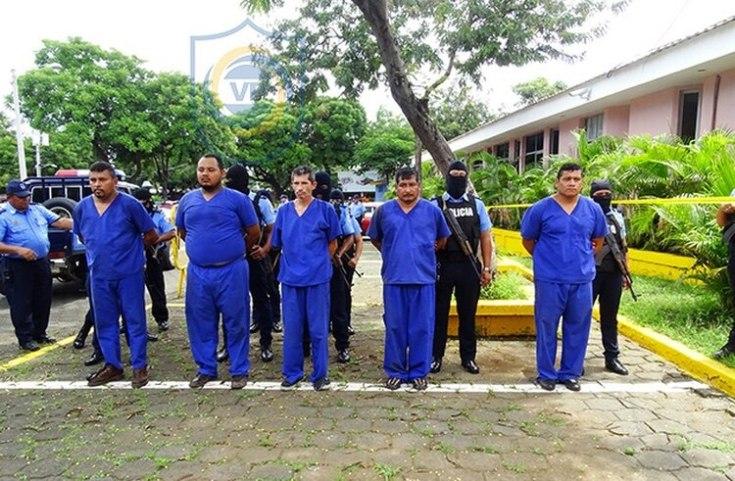 Banda a la que pertenece el diputado Sarria, acusada del crimen de un socio en la estructura criminal. (Policía de Nicaragua)