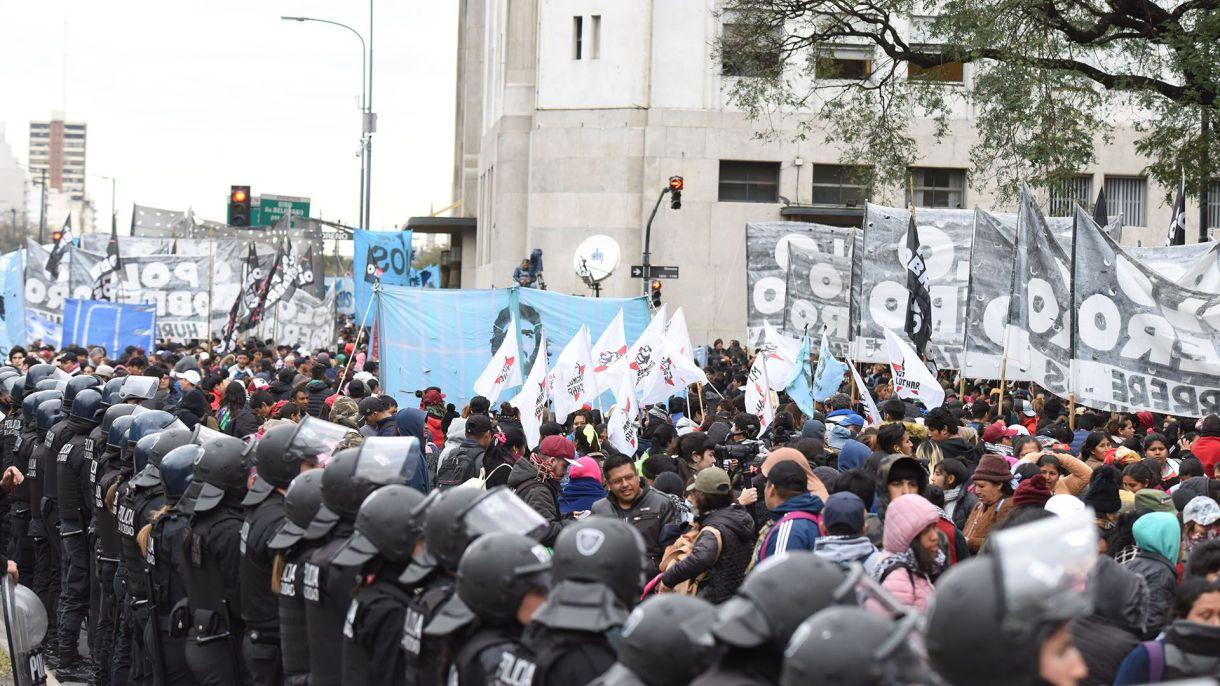 El caos en el centro porteño comenzó a las 10 (Franco Fafasuli)