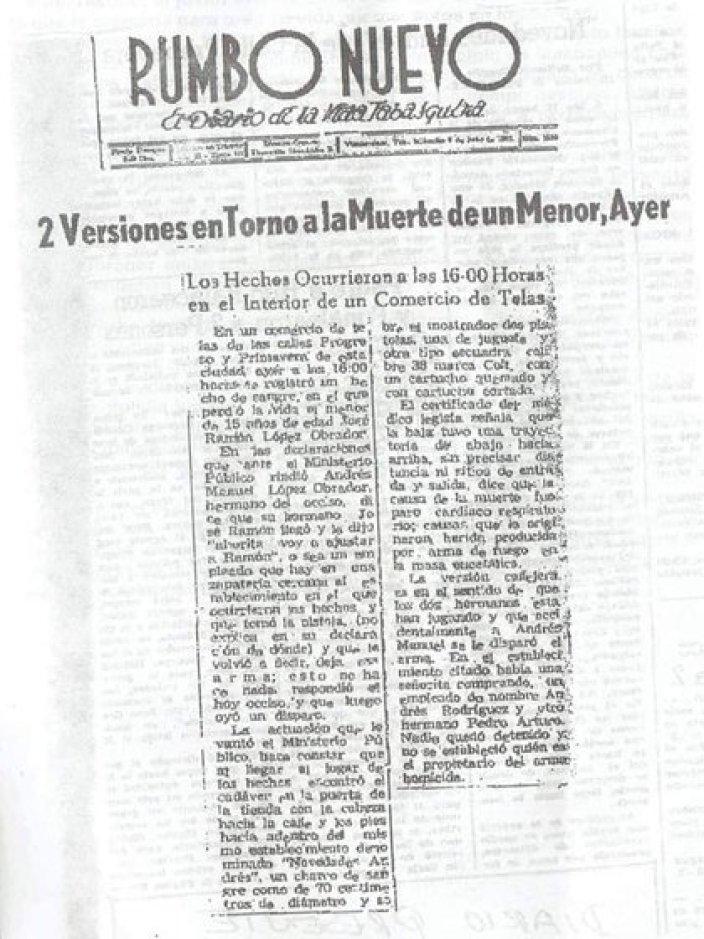 Notas periodísticas de la época destacaron que AMLO era el único presente en el local cuando todo sucedió (Foto: Facebook/Andrés Manuel El Fraude)
