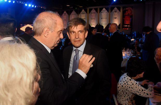 Hernán Lombardi junto al ministro de Desarrollo Urbano y Transporte porteño, Franco Moccia