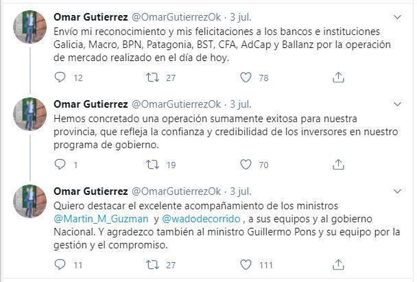 Omar Gutiérrez Neuquén Refinanciación Deuda