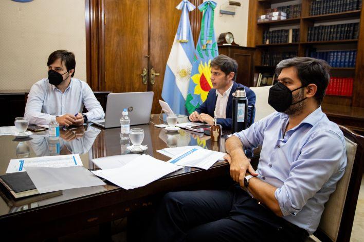 Kicillof con intendentes del AMBA