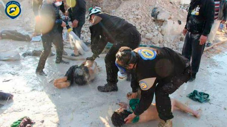 Imágenes del ataque químico de abril pasado en Siria