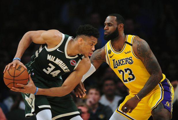 Giannis Antetokounmpo y LeBron James, dos de los mejores jugadores de la presente temporada de la NBA (USA TODAY Sports)
