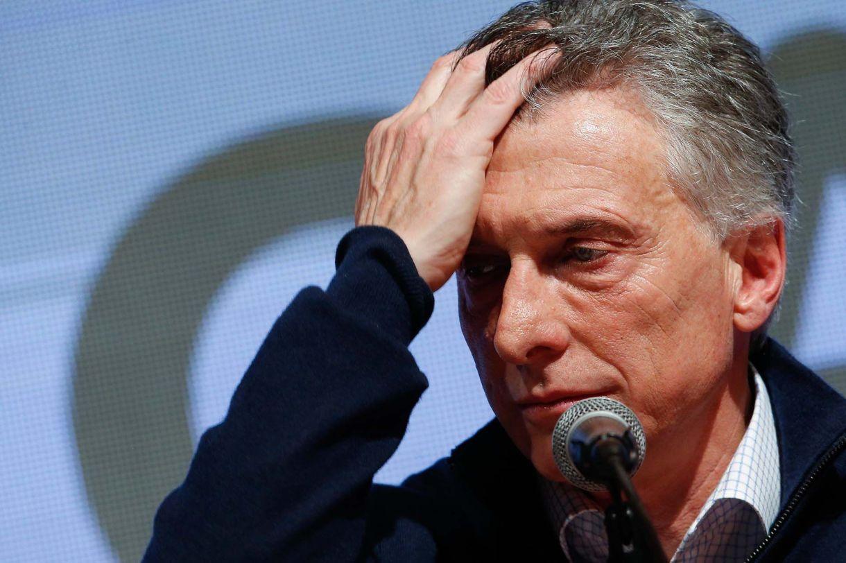 La peor cara de Mauricio Macri EFE/Juan Ignacio Roncoroni