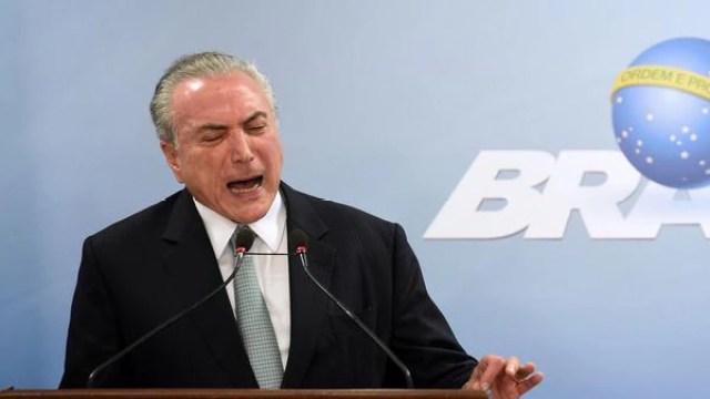 Michel Temer aseguró que no renunciará (AFP)