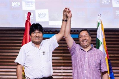 Evo Morales y Luis Arce (JULIETA FERRARIO / ZUMA PRESS)