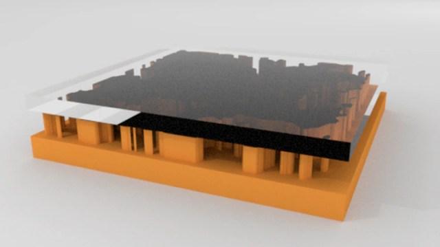 Por medio del sistema, se genera una representación digital en 3D de la red capilar para simular el flujo de líquidos atrapados y crear escenarios de recuperación optimizados