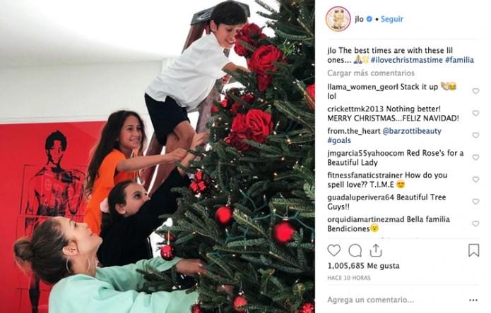 La empresaria aseguró que los mejores tiempos de su vida son los que pasa con sus hijos (Foto: Instagram Jennifer López)