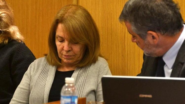 Susana Freydoz, en el banquillo. Fue acusada de homicidio agravado por el vínculo (NA)