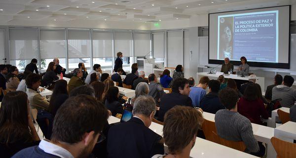 El evento fue organizado por la cátedra Colombia del Departamento de Ciencia Política y Estudios Internacionales, en Argentina (Prensa UTDT)