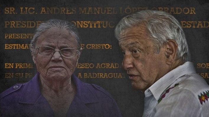 Más recientemente, la reunión de Consuelo Loera, madre de El Chapo, con AMLO, dañó su imagen (Fotoarte: Jovani Silva / Infobae México)