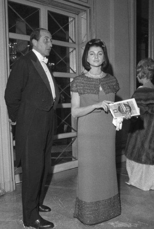 Anna Fallarino y el marqués Casati Stampa (AFP/archivo)