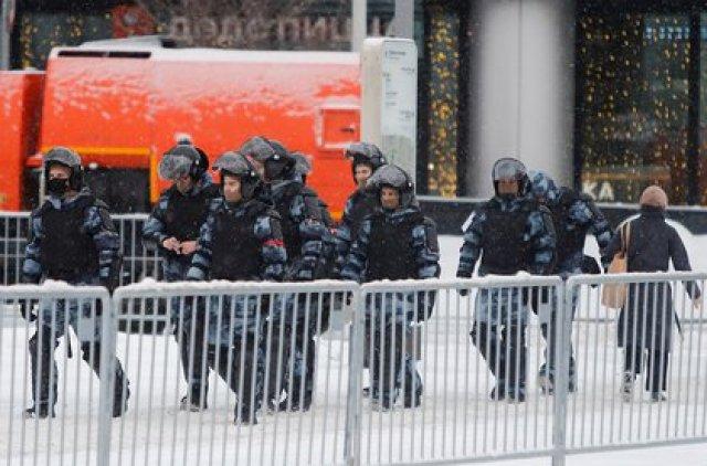 Despliegue policial en el centro de Moscú (Reuters)