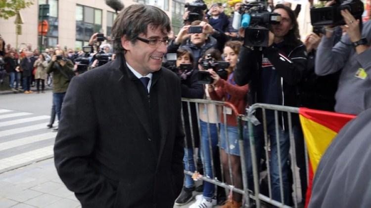 Carles Puigdemont en Bruselas (AP)