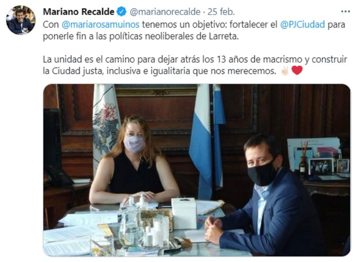 Mariano Recalde y María Rosa Muiños