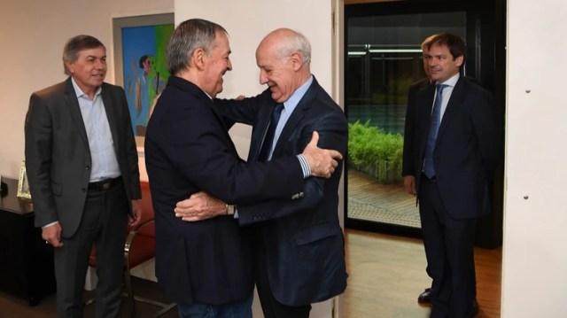 Roberto Lavagna junto al gobernador de Córdoba, Juan Schiaretti