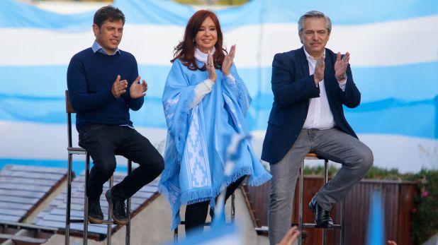 Axel Kicillof formó parte del cierre de campaña de la fórmula presidencial que componen Alberto Fernández y Cristina Kirchner (Christian Heit)