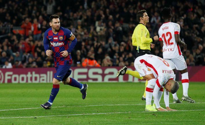 Lionel Messi, el abanderado del Barcelona ante Mallorca (REUTERS/Albert Gea)