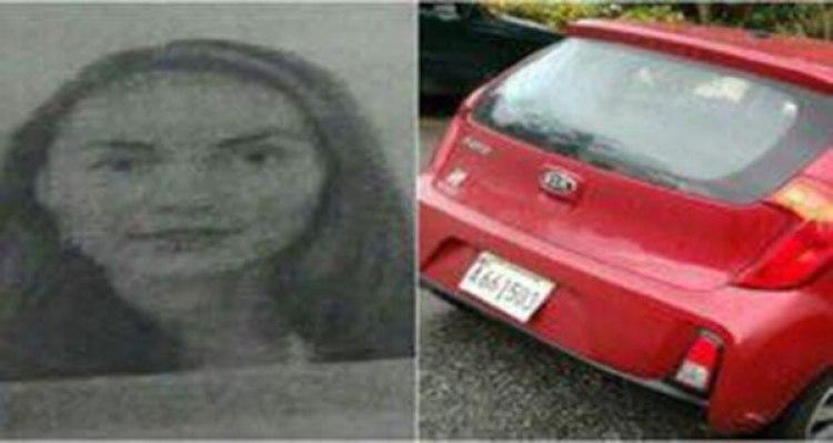 El auto en el que viajaba Natalia Borodina