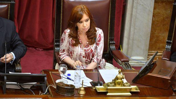 Cristina Kirchner preside una sesión en el Senado (Foto: Gustavo Gavotti)