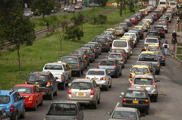 A nivel de países, Colombia es la segunda nación con más congestión vehicular solo antecedida por Tailandia
